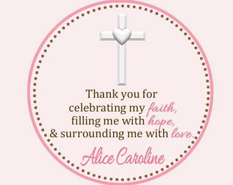 Christening/Baptism/First Communion Favor Tags - Baptism Favor Tags - Christening Favors - Baptism Favors - Confirmation Favors