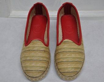 Handmade Jute Fabric Shoes(Woman-37)-1032