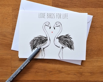 Love birds card| Engagement card