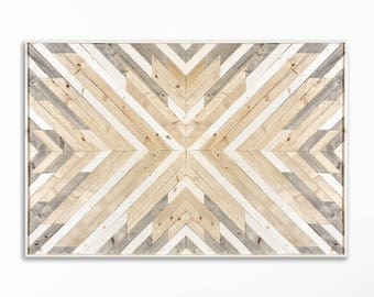 Wood Wall Art ~ Large Wall Art ~ Wooden Wall Art ~ Wooden Wall Art Large ~ Geometric Wood Wall Art ~ White Wood Wall Art ~ Modern Wall Art