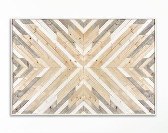 Wood Wall Art ~ Large Wall Art ~ Wooden Wall Art ~ Wooden Wall Art Large ~  Geometric Wood Wall Art ~ White Wood Wall Art ~ Modern Wall Art