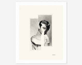 HUG (Giclée Fine Art Print/Photo Print/Poster Print) Minimal, Abstract Collage