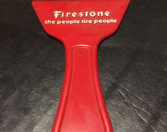 Vintage Firestone Tire Store Advertising Ice Scraper Giveaway 1960's The People Tire People
