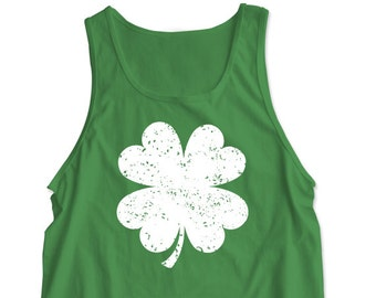 "New ""Shamrock"" Unisex Tank Top for St. Patrick's Day, Bar Crawl, Party, Girlfriend, Wife, Fiance, Friend"
