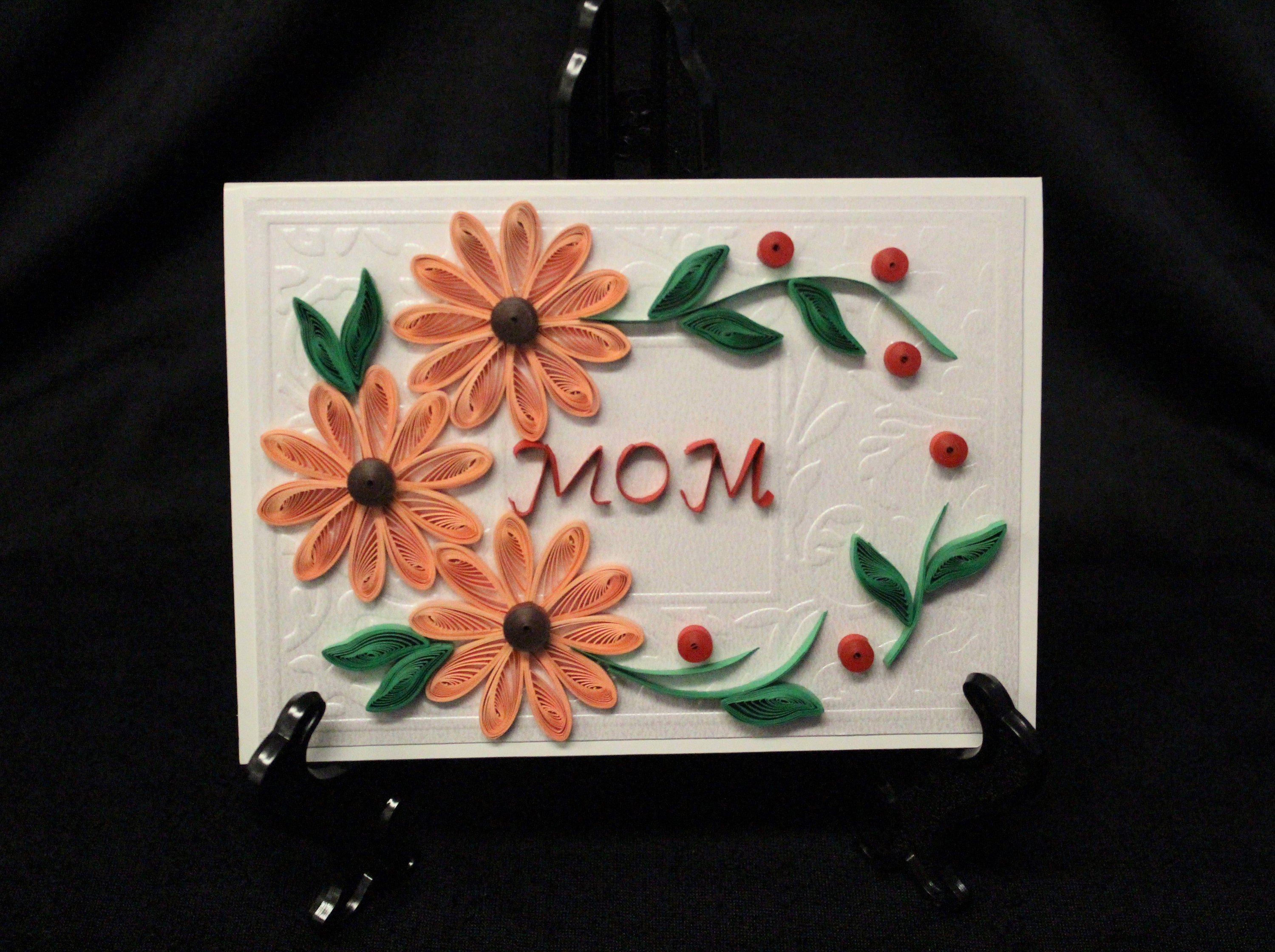 Handmade Paper Mothers Day Floral 3d Greeting Card