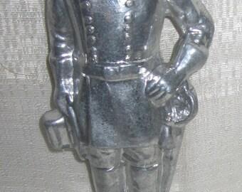 """Confederate Civil War General Robert E. Lee statue sanded aluminum 7-3/4"""" tall"""