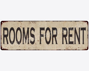 Rooms For Rent Vintage Look Reproduction Metal Sign 6x18 6180506