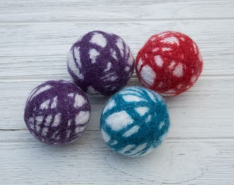 Wool Dryer Ball,  Dryer Ball Set, Organic Dryer Ball, Eco-friendly Laundry, Reusable Dryer Ball, Felted Dryer Ball, Unscented Dryer Ball,