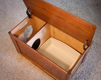 cat litter box cover cat house cat litter box cabinet pet. Black Bedroom Furniture Sets. Home Design Ideas