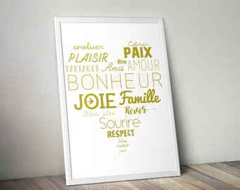 Poster heart words sayings