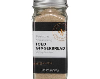 Iced Gingerbread Popcorn Seasoning – Makes a Great Christmas Food Gift Idea !
