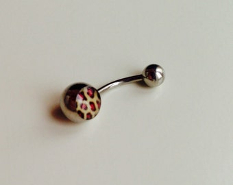 Sale | Barbell | Belly Bar | Bannanabell | Naval | Piercing | Body Jewellery | Leopard Print