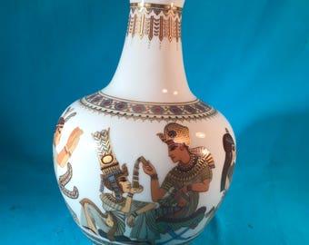Vintage Egyptian Porcelain Vase