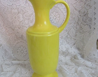 Royal Haeger Yellow Pitcher Vase