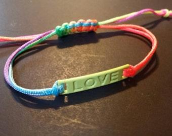 Green Love Bracelet, Neon Love Bracelet