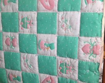 Vintage baby crib blanket