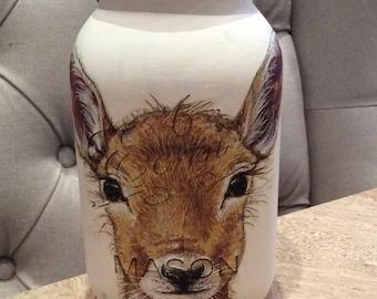 Doe / Deer Storage Jar Mason Jar Kilner Jar