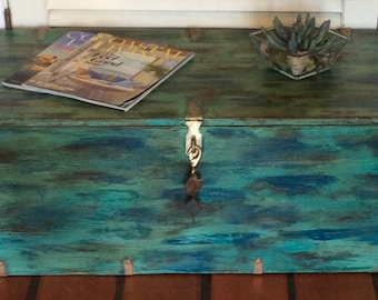 Blue/Green Trunk Coffee Table 1940s