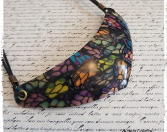Necklace butterfly wings made of polymer clay. Butterfly necklace