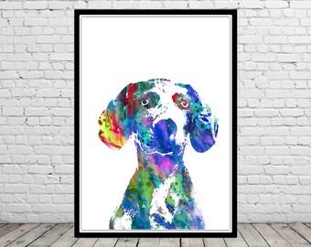 Weimaraner, watercolor weimaraner, weimaraner art print, watercolor art print, watercolor dog, Weimaraner portrait, Weimaraner dog (3261b)