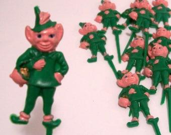 12 Leprechaun Cupcake Picks