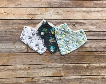 Pack of Baby Bandana Bibs