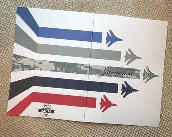 18#, Air Force Graduation Card, Basic Training Card, Air Force Plane Card Set, Air Force BMT Graduation Card, Proud Air Force Mom Card Set