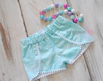 Frozen Birthday Outfit - Elsa Inspired Shorts - Frozen Coachella Shorts - Princess Shorts - Elsa Outfit - Elsa Shorts
