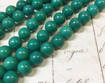 AA quality, Magnesite Beads Green Beads, Round, 6mm, Full strand