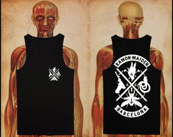 Ramon Maiden black tank tops -check the size before order-