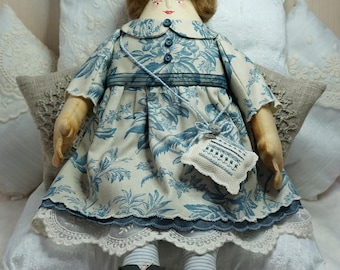 Nerys, A Folk Art Rag Doll