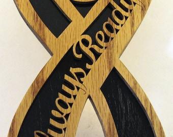 Always ready firefighter ribbon scroll saw cut--21P