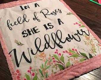 Crib Sized Wildflower Blanket