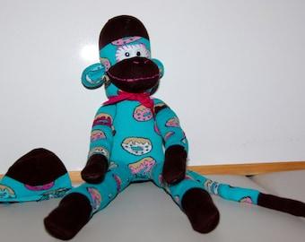 Mister Donuts Sock Monkey Original Handmade Adorable Christmas Gift