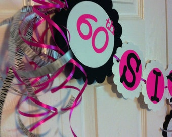 60th Birthday Decorations Party Banner Sixty & Sassy