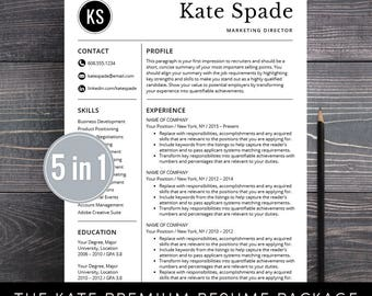 Professional Resume Template / CV Template + Free Cover Letter / Instant  Download / Mac Pages