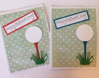 Golf Happy Father's Day Card- Handmade