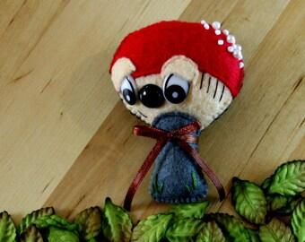 Coopers Creek Mushroom Plush by Winnifreds Daughter