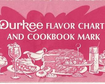 Durkee Flavor Chart and Cookbook Mark Vintage Booklet, C1960s