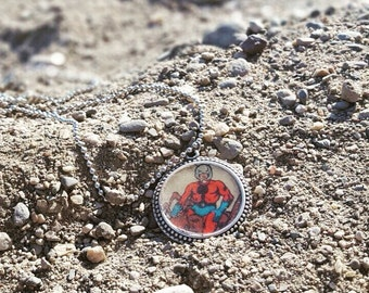 Comic book necklace, Ant Man necklace, comic book jewelry, vintage comic book, comic book pendant, Avenger jewelry, recycled comics necklace