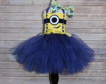 Minion Tutu, Minion Costume, Minion Birthday, Baby Girl Costume , Baby Girl Halloween , Halloween Costume