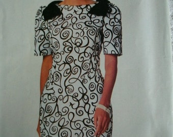 Misses Misses Petite Dress Sizes 6-8-10 See & Sew by Butterick Pattern 5883 Vintage 1991 UNCUT Pattern Rated Very EASY to Sew