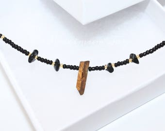Pyrite & Black Obsidian Necklace