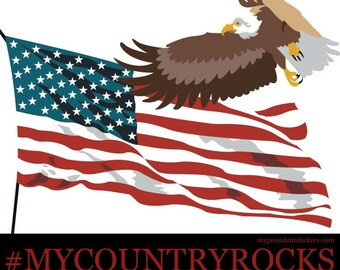 Vinyl Laser-cut Decal #MYCOUNTRYROCKS My Country ROCKS Patriotic American USA