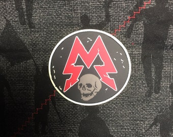 Skull M pvc patch  with  hook and loop