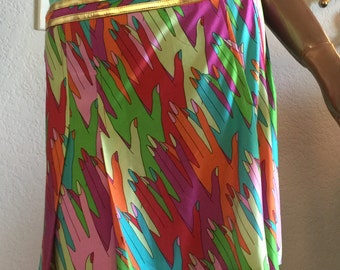 Dolce and Gabbana early 1990's hand multi colored flirty skirt