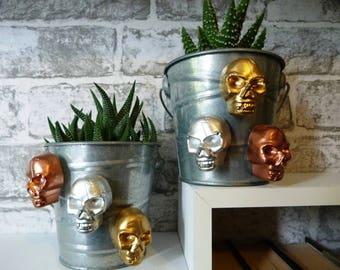Skull magnet, skull fridge magnet, skull kitchen magnet, Gothic magnets, Plaster skull magnet, skull locker magnet, goth skull magnet