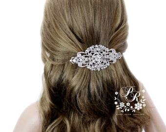 Wedding Hair Clip Wedding Barrette Rhinestone Hair Clip Bridal Barrette Wedding Jewelry Wedding Accessory Bridal Jewelry Headpiece Aimee