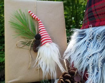 Swedish Tomte Nisse Gnome Woodland hanging ornaments decoration Set of 3 by DaVinciDoll Designs©
