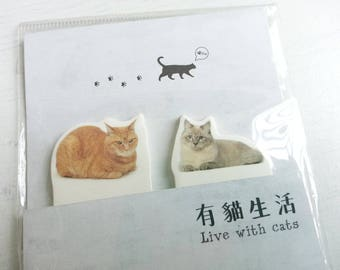 Stick and Memo  - 40 sheets - Lovely Cat